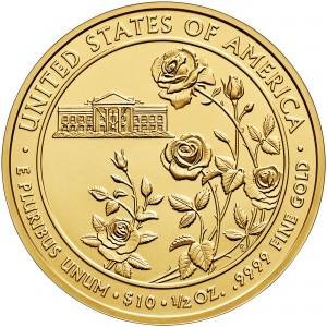 2013 First Spouse Gold Coin Ellen Wilson Uncirculated Reverse