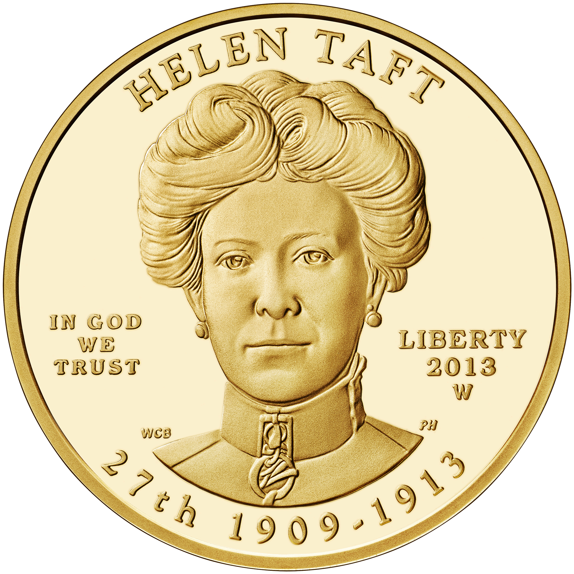 2013 First Spouse Gold Coin Helen Taft Proof Obverse