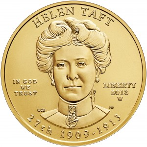 2013 First Spouse Gold Coin Helen Taft Uncirculated Obverse