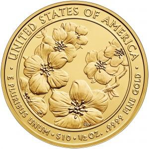 2013 First Spouse Gold Coin Helen Taft Uncirculated Reverse