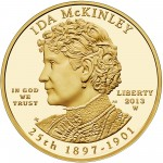 2013 First Spouse Gold Coin Ida Mckinley Proof Obverse