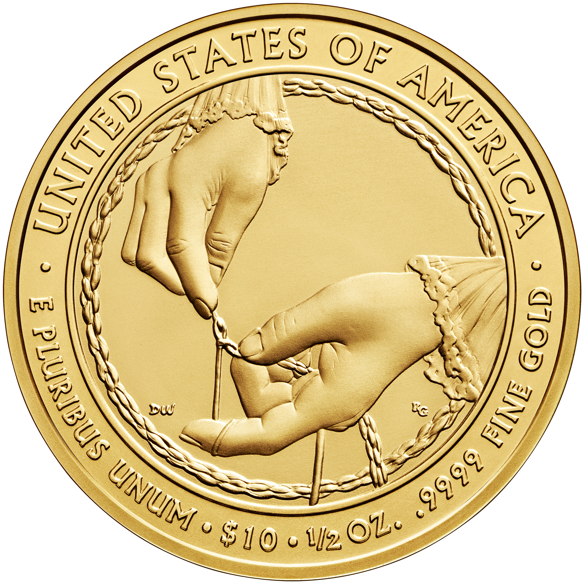2013 First Spouse Gold Coin Ida Mckinley Uncirculated Reverse