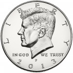 2013 Kennedy Half Dollar Uncirculated Obverse Philadelphia
