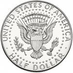 2013 Kennedy Half Dollar Uncirculated Reverse