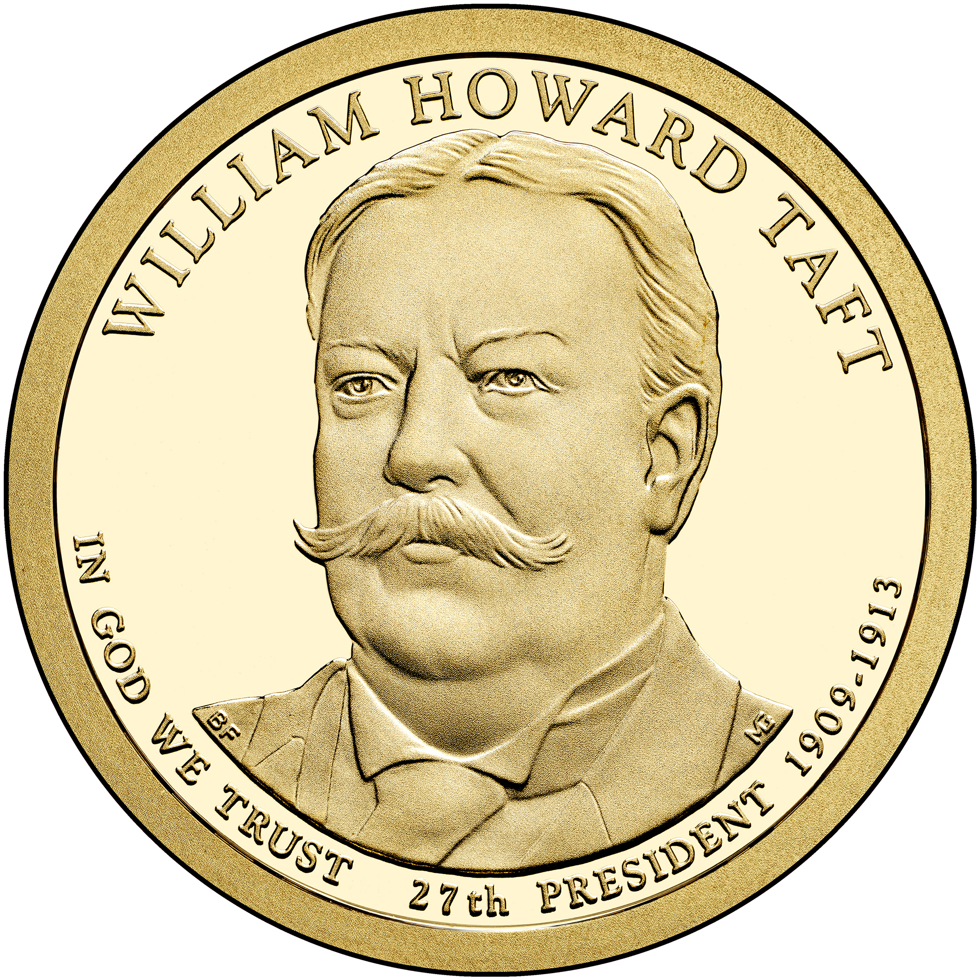2013 Presidential Dollar Coin William Howard Taft Proof Obverse