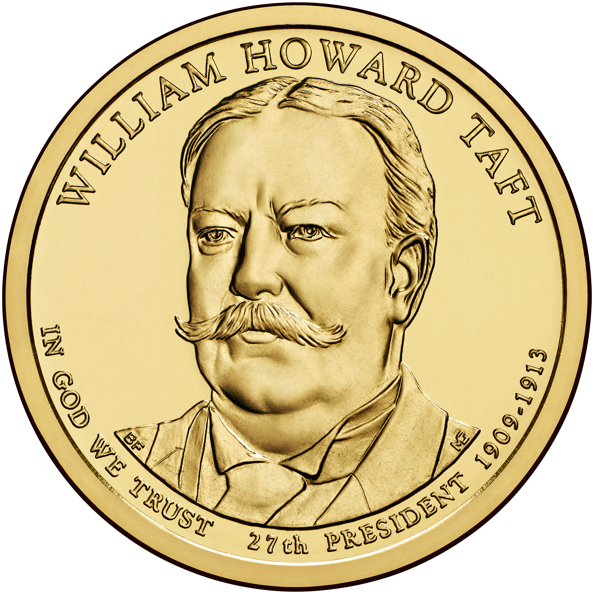 2013 Presidential Dollar Coin William Howard Taft Uncirculated Obverse