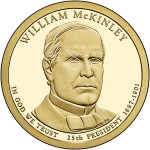 2013 Presidential Dollar Coin William Mckinley Proof Obverse