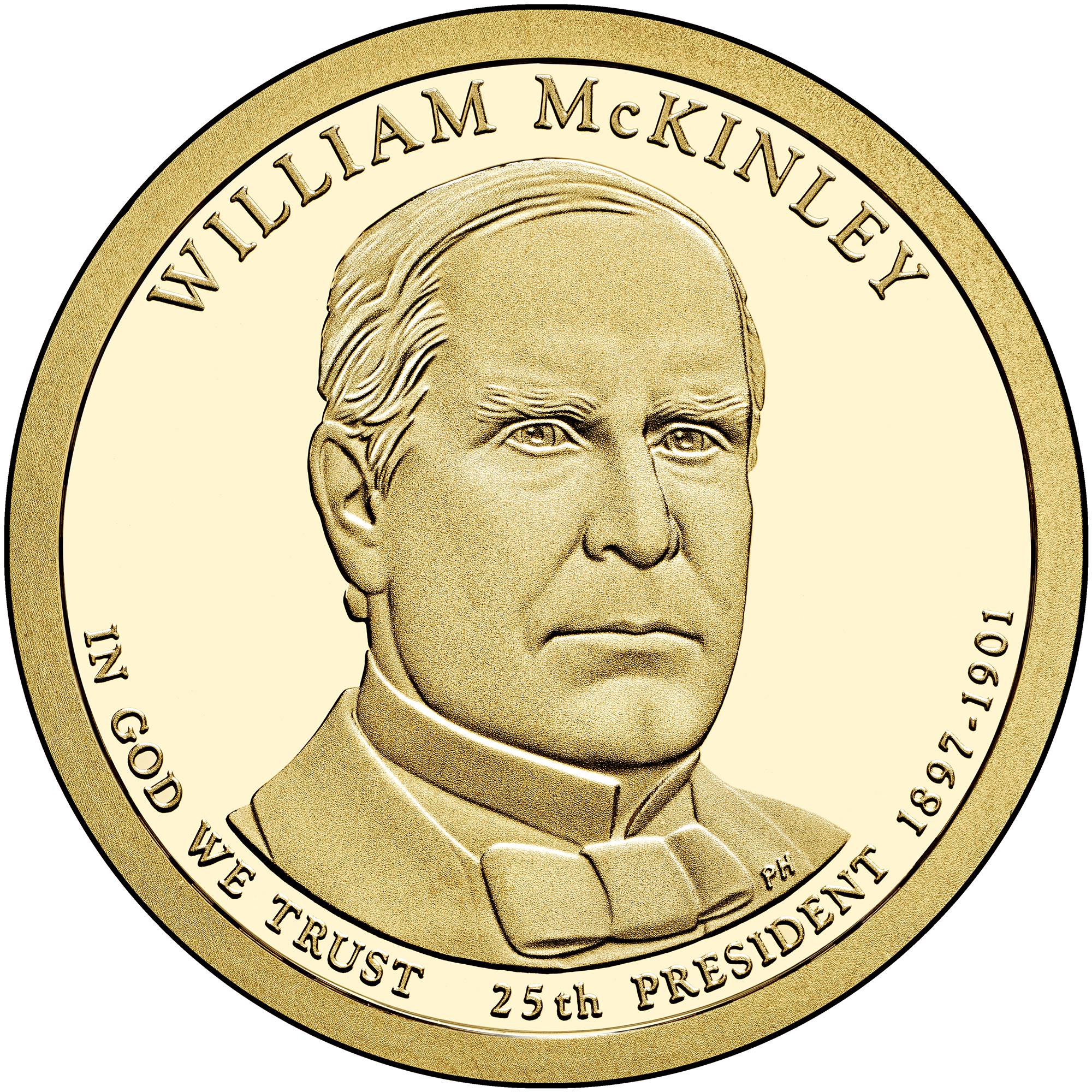 2013 Presidential Dollar Coin William Mckinley Proof Obverse