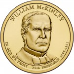 2013 Presidential Dollar Coin William Mckinley Uncirculated Obverse