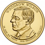 2013 Presidential Dollar Coin Woodrow Wilson Uncirculated Obverse