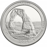 2014 America The Beautiful Quarters Coin Arches Utah Proof Reverse