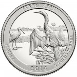 2014 America The Beautiful Quarters Coin Everglades Florida Proof Reverse