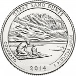 2014 America The Beautiful Quarters Coin Great Sand Dunes Colorado Uncirculated Reverse