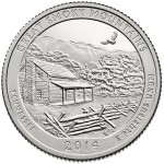 2014 America The Beautiful Quarters Coin Great Smoky Mountains Tennessee Proof Reverse