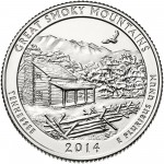 2014 America The Beautiful Quarters Coin Great Smoky Mountains Tennessee Uncirculated Reverse