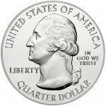 2014 America The Beautiful Quarters Five Ounce Silver Bullion Coin Obverse