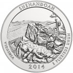 2014 America The Beautiful Quarters Five Ounce Silver Bullion Coin Shenandoah Virginia Reverse