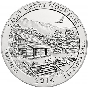 2014 P Great Smoky Mountains America The Beautiful National Parks Quarter