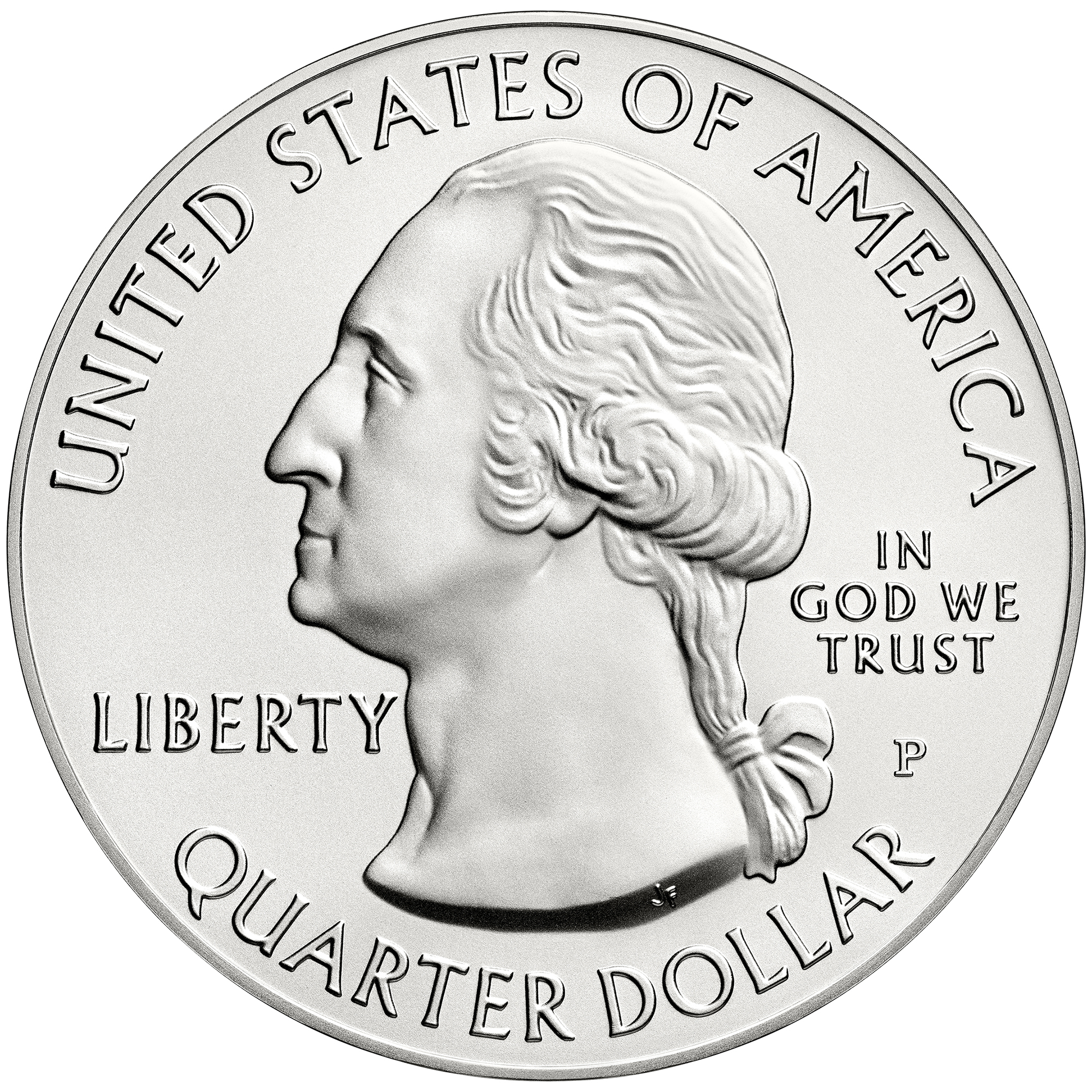 2014 America The Beautiful Quarters Five Ounce Silver Uncirculated Coin Obverse