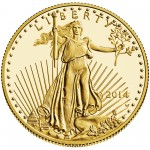 2014 American Eagle Gold Half Ounce Proof Coin Obverse