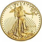 2014 American Eagle Gold One Ounce Proof Coin Obverse