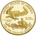 2014 American Eagle Gold One Ounce Proof Coin Reverse