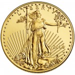 2014 American Eagle Gold One Ounce Uncirculated Coin Obverse