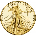 2014 American Eagle Gold Tenth Ounce Proof Coin Obverse