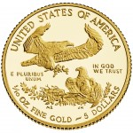 2014 American Eagle Gold Tenth Ounce Proof Coin Reverse