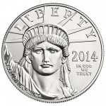2014 American Eagle Platinum One Ounce Bullion Coin Obverse