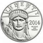 2014 American Eagle Platinum One Ounce Proof Coin Obverse