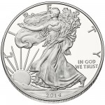 2014 American Eagle Silver One Ounce Proof Coin Obverse