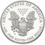 2014 American Eagle Silver One Ounce Proof Coin Reverse