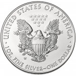 2014 American Eagle Silver One Ounce Uncirculated Coin Reverse