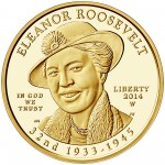 2014 First Spouse Gold Coin Eleanor Roosevelt Proof Obverse