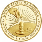 2014 First Spouse Gold Coin Eleanor Roosevelt Proof Reverse