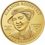 2014 First Spouse Gold Coin Eleanor Roosevelt Uncirculated Obverse