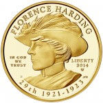 2014 First Spouse Gold Coin Florence Harding Proof Obverse