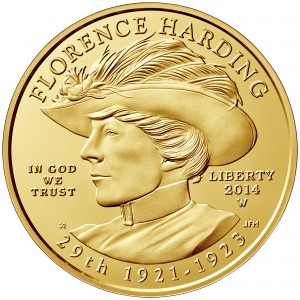 2014 First Spouse Gold Coin Florence Harding Uncirculated Obverse