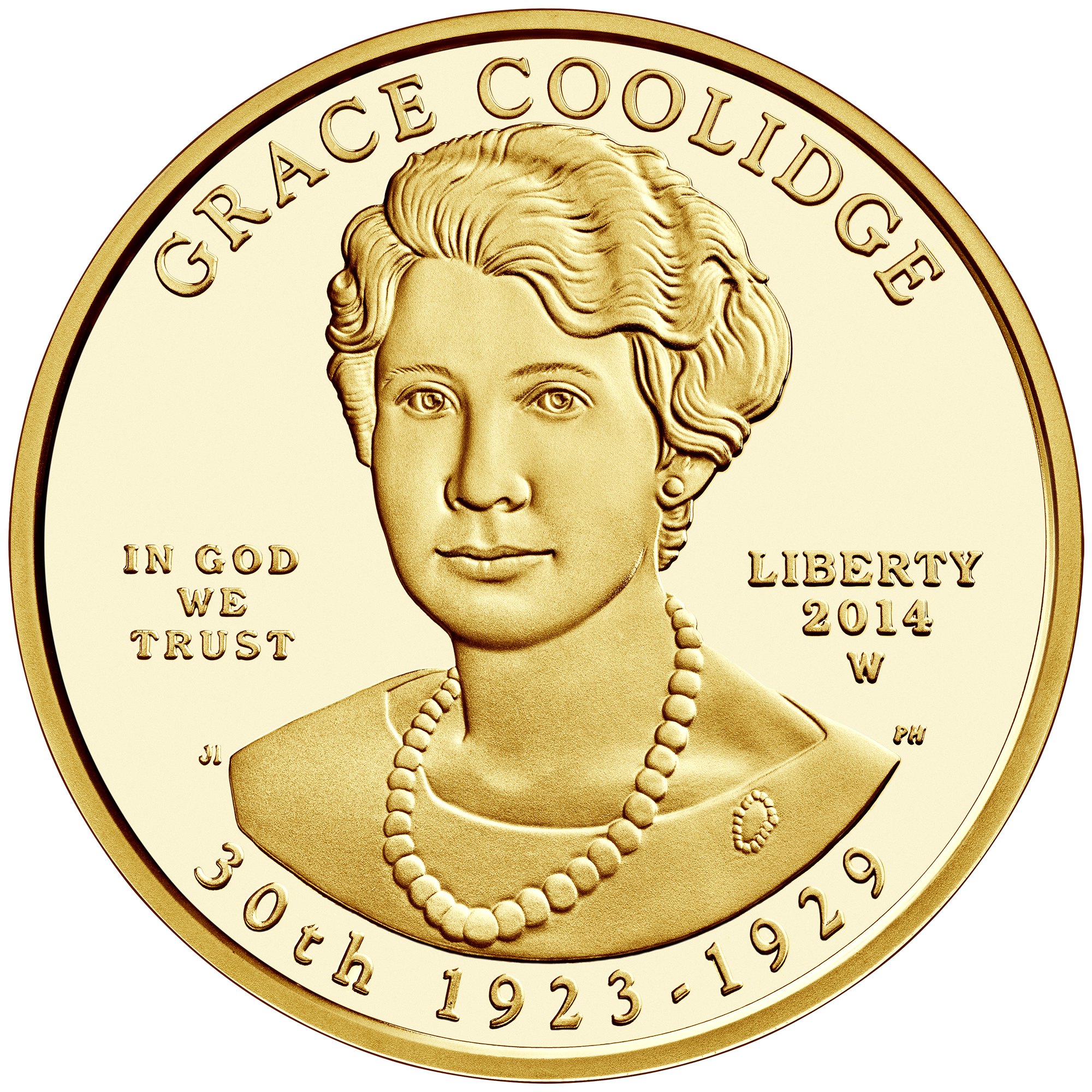2014 First Spouse Gold Coin Grace Coolidge Proof Obverse