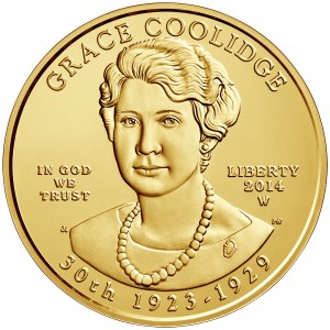 2014 First Spouse Gold Coin Grace Coolidge Uncirculated Obverse