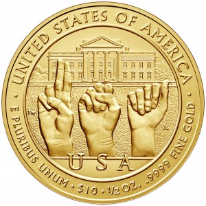 2014 First Spouse Gold Coin Grace Coolidge Uncirculated Reverse