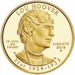 2014 First Spouse Gold Coin Lou Hoover Proof Obverse