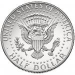 2014 Kennedy Half Dollar Fiftieth Anniversary Silver Enhanced Uncirculated Coin San Francisco Reverse