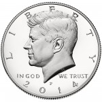 2014 Kennedy Half Dollar Fiftieth Anniversary Silver Proof Coin Philadelphia Obverse