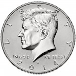 2014 Kennedy Half Dollar Fiftieth Anniversary Silver Reverse Proof Coin West Point Obverse