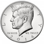 2014 Kennedy Half Dollar Fiftieth Anniversary Silver Uncirculated Coin Denver Obverse