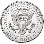2014 Kennedy Half Dollar Fiftieth Anniversary Silver Uncirculated Coin Denver Reverse