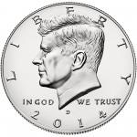 2014 Kennedy Half Dollar Uncirculated Obverse Denver
