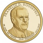 2014 Presidential Dollar Coin Franklin D. Roosevelt Proof Obverse